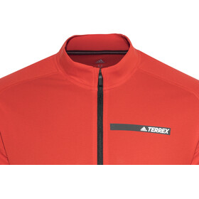 adidas TERREX Tracerocker 1/2 Zip LS Men hi-res red